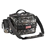 Fiblink Waterproof Outdoor Multifunctional Fishing Tackle Bag Shoulder Bag and Handbag or Waist Bag Fishing Gear Storage for Fishing Hiking Climbing (Woodland camouflage) For Sale