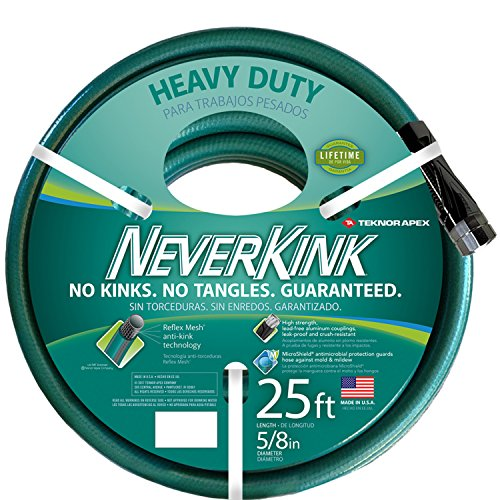 Teknor Apex NeverKink 8615-25, Heavy Duty Garden Hose, 5/8-Inch by 25-Feet