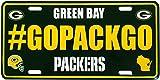 Siskiyou NFL Green Bay Packers Hashtag License Plate, 5″, Green