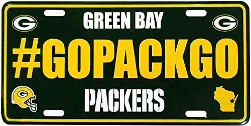 (Siskiyou NFL Green Bay Packers Hashtag License Plate, 5