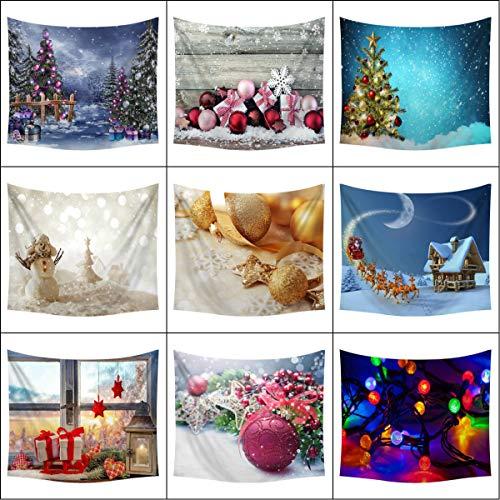 iLOOSKR Merry Christmas Celebrations Home Tapestry Hippie Room Bedspread Wall Hanging Throw Blanket (Tree Lowes Slim Christmas)
