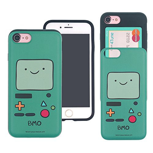 Iphone 8   Iphone 7 Case Adventure Time Cute Slim Slider Cover   Card Slot Shock Absorption Shockproof Dual Layer Protective Holder Bumper For Iphone8   Iphone7  4 7Inch  Case   Beemo  Bmo