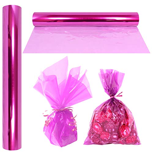 Cellophane Wrap Roll Lavender | 100′ Ft. Long X 16″ in. Wide | 2.3 Mil Thick Transparent Lavender | Gifts, Baskets, Treats, Cellophane Wrapping Paper | Colorful Cello Easter, Spring Color| by Anapoliz