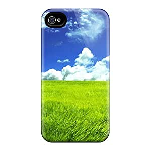Hot Green Grassland First Grade Tpu Phone Case For Iphone 4/4s Case Cover