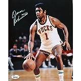 Oscar Robertson Autographed Signed Dribbling 8x10 Photo JSA