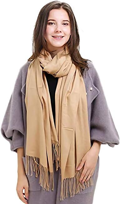 Womens Cashmere Scarf Warm Shawl Tassels Wrap Long Soft Neck Free Shipping