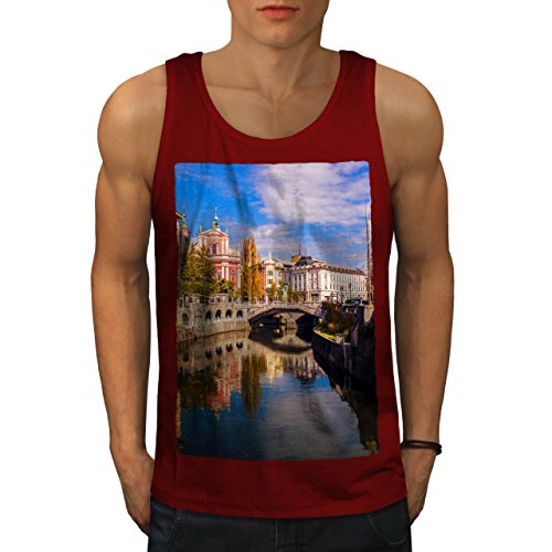 wellcoda Canal Street River City Men Red 2XL Tank - Canal 365 Street