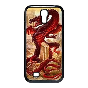 QSWHXN Customized Red Dragon Pattern Protective Case Cover Skin for Samsung Galaxy S4 I9500