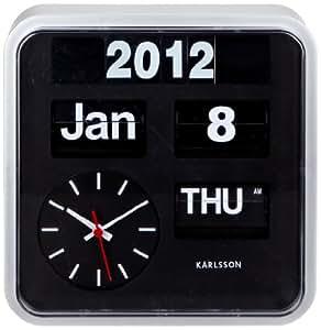 present time karlsson flip wall clock mini home kitchen. Black Bedroom Furniture Sets. Home Design Ideas