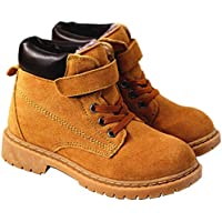 Vextrofort Kids Boots, Winter Outdoor Waterproof Hiking Leather Boot for Boys Girls (Little Kids/Big Kids) Khaki