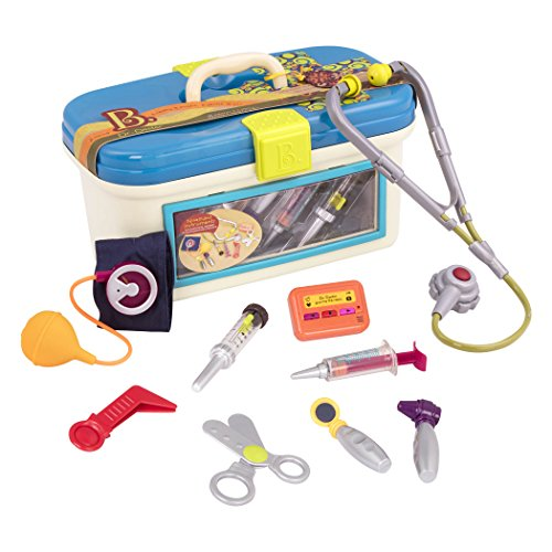 B. toys by Battat B. Dr. Doctor Toy  Deluxe Medical Kit for Toddlers - Pretend Play Set for Kids (10 pieces)