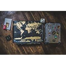 Fulltime Travellers - Deluxe Scratch Map - Exclusive & Detailed Designs, Interactive & Colourful Scratch Off World Map