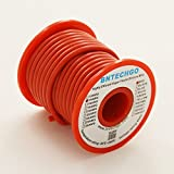 BNTECHGO 14 Gauge Silicone Wire 25 Feet Red Soft and Flexible High Temperature Resistant Highly Efficient 14 AWG Silicone Wire 400 Strands of Tinned Copper Wire