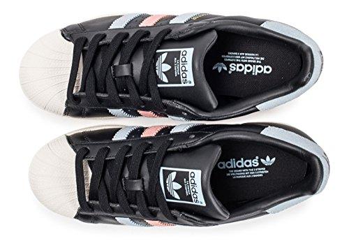 Noir 1 41 Adidas Femme 3 Baskets Taille Superstar Cuir Eu xZqf4OI