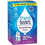 TheraTears Eye Drops for Dry Eyes, Dry Eye Therapy Eyedrops, 1 Fl oz