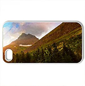 Beautiful Morning a Present Day - Case Cover for iPhone 4 and 4s (Forces of Nature Series, Watercolor style, White)