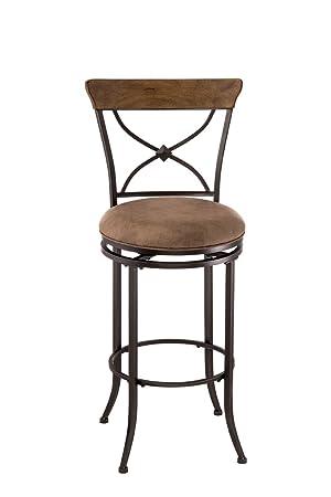 Hillsdale Furniture 4670-826 Hillsdale Charleston X Back Swivel Counter Stool, Height, Desert Tan