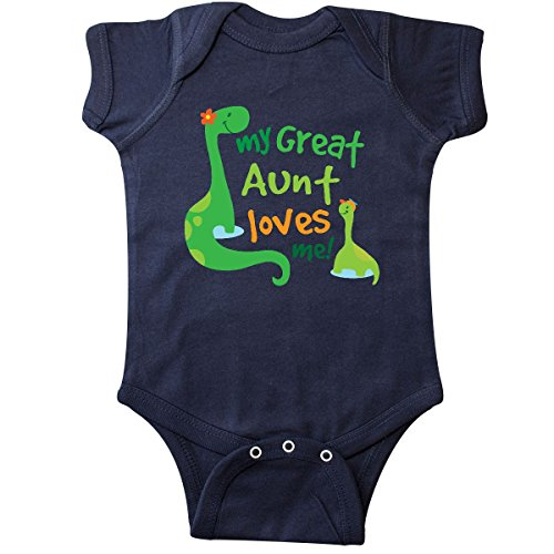 inktastic My Great Aunt Loves Me Infant Creeper 6 Months Navy Blue