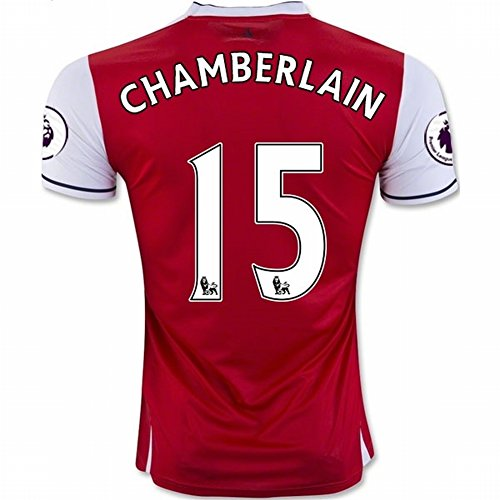 durable service 2016 2017 Arsenal 15 Alex Oxlade Chamberlain Home Football  Soccer Jersey In Red For dc98609a3