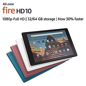 Fire HD 10 Tablet (10.1″ 1080p full HD display, 32 GB) – Black