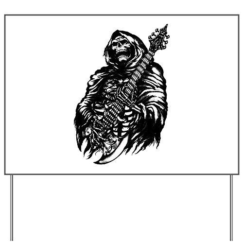 Yard Sign Grim Reaper Heavy Metal Rock Player