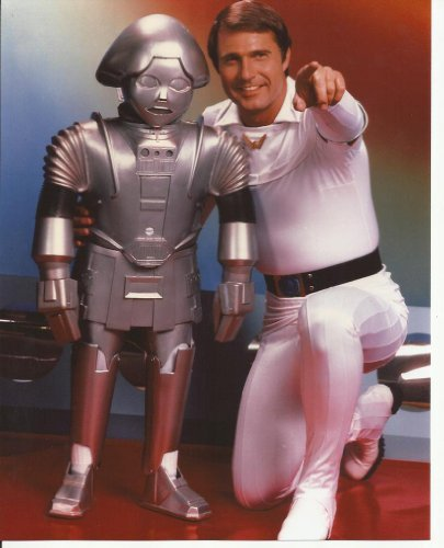 Buck Rogers in the 25th Century Gil Gerard with Twiki 8x10 Photo