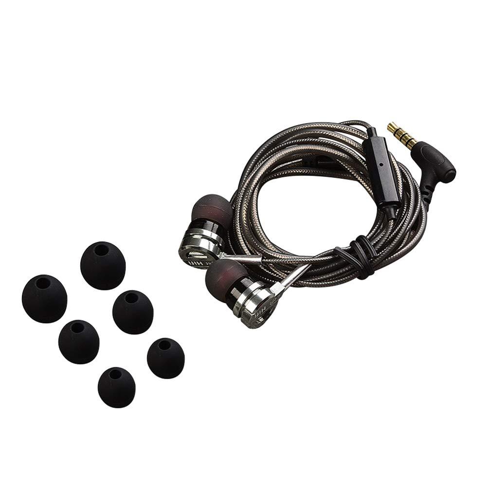 dulawei3 QKZ DM9 メタル 重低音 ミュージックヘッドセット インイヤー 有線電話イヤホン ノイズキャンセリング ヘッドホン 音楽イヤホン マイク付き, GP6I9BYU813R992G30P5R2D361BS68  シルバーグレー B07PM1R5BC
