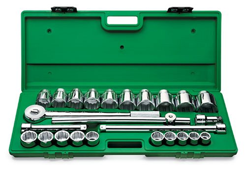 SK 4725 25 Piece 3/4-Inch Drive 12 Point 7/8-Inch to 2-1/4-Inch Socket Set by SK Hand Tool