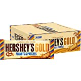 First there was milk chocolate, then dark, followed by white.Now there is gold - HERSHEY'S GOLD Bar.HERSHEY'S GOLD Bars combine buttery sweet caramelized creme with crunchy, salty bits of peanuts and pretzels. Share these HERSHEY'S GOLD Bar...