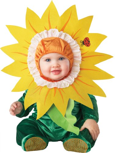 (InCharacter Costumes Baby's Silly Sunflower Costume, Green/Yellow, Small (6-12)