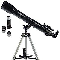 Celestron - PowerSeeker 70AZ Telescope - Manual Alt-Azimuth Telescope for Beginners - Compact and Portable - BONUS…