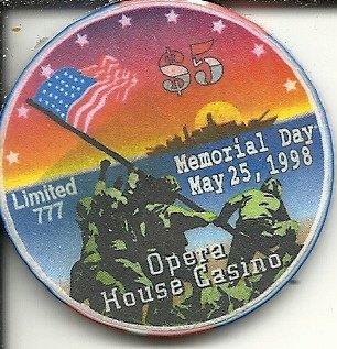 $5 opera house memorial day 1998 d-day obsolete las vegas casino chip
