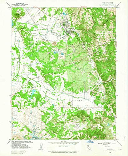 (YellowMaps Ione CA topo map, 1:24000 Scale, 7.5 X 7.5 Minute, Historical, 1962, Updated 1963, 26.9 x 22.1 in - Polypropylene)