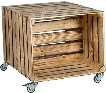"2er Mesa cajón de fruta ""Johanna"" con Dimensiones Del Rodillo 62 x 50"