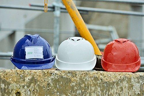 EL MSA V-Gard Casco EN397 - Casco de trabajador de construcción Cascos de trabajo Cascos de protección en div. Colores - verde, V-Gard 200 Premium: ...