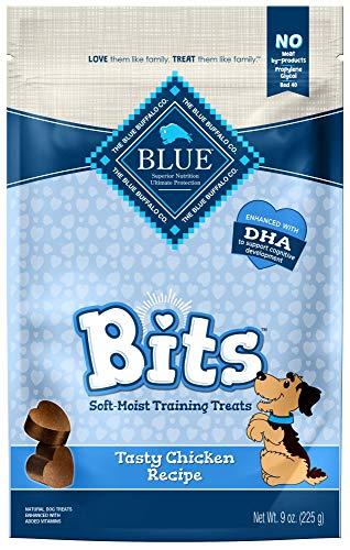 Diamond Training - Blue Buffalo BLUE Bits Natural Soft-Moist Training Dog Treats, Chicken Recipe 9-oz bag