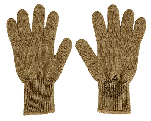 Rothco G.I. Glove Liners, Coyote Brown, Size 5