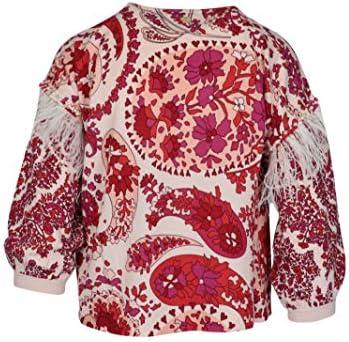 Luxury Fashion | Twin-Set Donna 201TP326704796 Rosso Cotone Blusa | Primavera-Estate 20