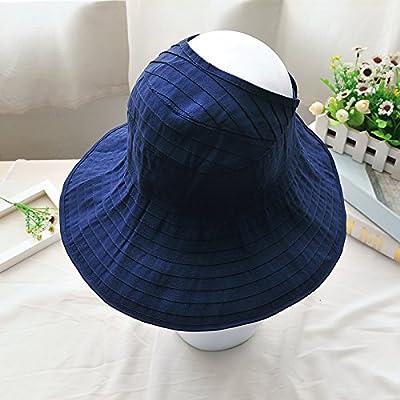 À l'été, chapeaux de plage sports loisirs plein air fashion chapeaux chapeau de soleil pliable, réglable, la Marine