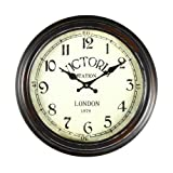 Asense Retro Vintage-Inspired Circular Wall Clock with Various theme (Victoria Station)