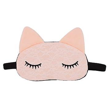 0f95eac90 ZTL Cute Cat Animal Sleep Mask Soft Eye Mask Blindfold Eye Cover for Women  Girls Kids