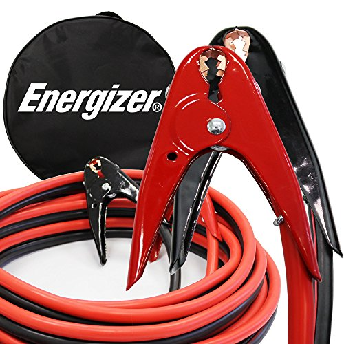 Energizer 1-Gauge 800A Heavy Duty Jumper Battery Cables 25 Ft Booster Jump Start - 25' Allows You to Boost Battery from Behind a Vehicle! by Energizer