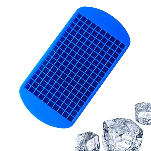 160 Mini Ice Cube Molds Trays Silicone 160 Grids Small Ice Tray Chocolate Mould Tool for Kitchen Bar Party Drinks
