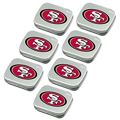 Promotional Candy (San Francisco 49ers Peppermint Candies 7-Pack. NFL sugar-free mints in decorative tins. About 85 mints per tin. Perfect for gifts, Valentine's Day, stocking stuffers. Only from Worthy.)