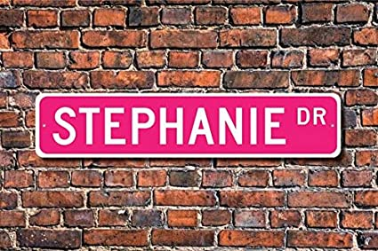 Amazon.com: Placa de Stephanie, Stephanie, regalo para niños ...