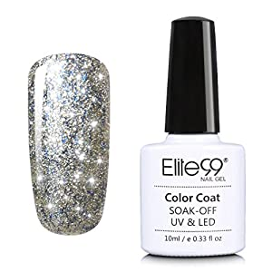 Elite99 Soak Off Starry Gel UV LED Gel Nail Polish Top Base Coat Manicure 10ml 6630