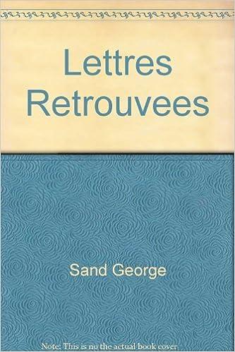 Livre gratuits en ligne Lettres Retrouvees pdf, epub
