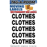 Tag-A-Room Box Content Moving Label (Clothes)