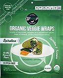Raw Organic Spirulina Mini Veggie Wraps (2 pack) | Wheat-Free, Gluten Free, Paleo Wraps, Non-GMO, Vegan Friendly Made in the USA