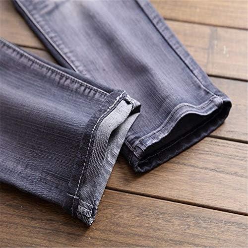 YLiansong Jeans pour Hommes Jean Coupe Slim en Denim Skinny déchiré Noir Extensible pour Hommes vêtements de Travail décontractés, Usage Quotidien (Couleur : Gris, Taille : 40 EU)